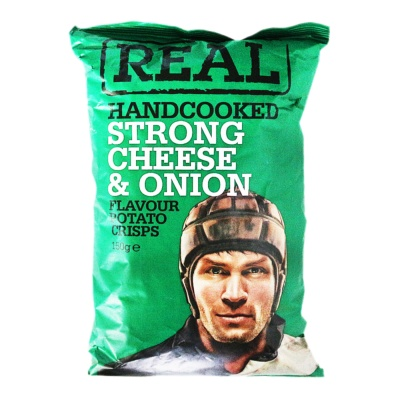 Real Strong Cheese Onion Handcooked Chips150g