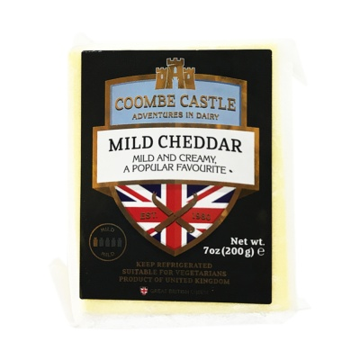 Coombe Castle Light Cheddar Cheese 200g