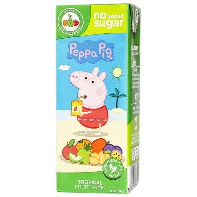 Appy Kids Co Peppa Pig Tropical Fruit Drink 200ml