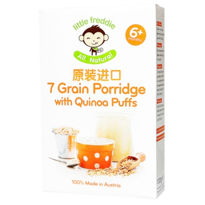 Little Freddie 7 Grain Porridge with Quinoa Puffs(6+ momths) 120g