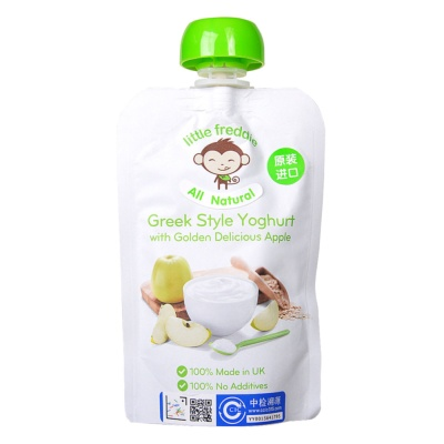 Little Freddie Greek Style Yoghurt With Golden Delicious Apple 90g