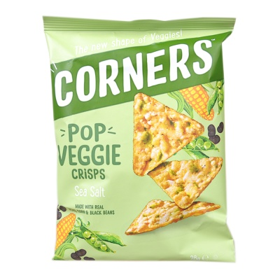 Corners Pop Veggie Sea Salt Crisps 28g