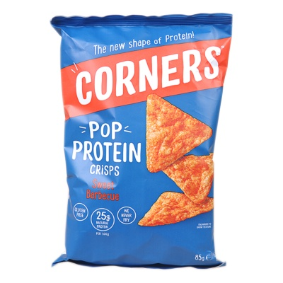 Corners Pop Protein Sweet Barbecue Crisps 85g