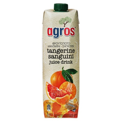 Agros Tangerine&Sanguini Juice Drink 1L