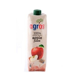 Agros 100% Apple Juice 1L