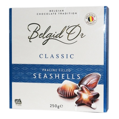 Belgid'Or Classic Praline Filled Seashells Chocolate 250g