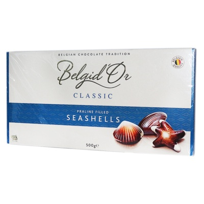 Belgid'Or Classic Praline Filled Seashells Chocolate 500g