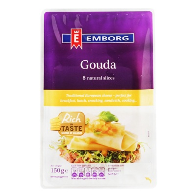 Emborg Gouda Natural Sliced 150g