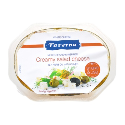 Taverna Creamy Salad Cheese In A Herb Oil With Olives 100g