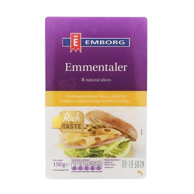 Emborg Emmental Cheese Sliced 150g