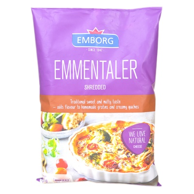 Emborg Shredded Emmental Cheese 200g