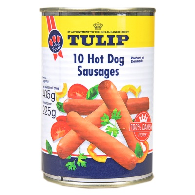Tulip 10 Hot Dog Sausages 405g