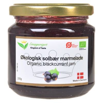 Kingdom Of Taste Organic Blackcurrant Jam 200g
