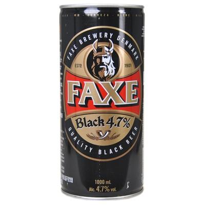 法克听装4.7%黑啤酒 1L