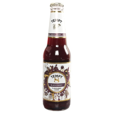 Tempt No.8 Black Cherry Flavoured Cider 330ml