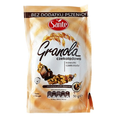 Sante Chocolate Oatmeal 50g