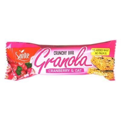 Sante Granola Cranberry & Oat Crunchy Bar 40g