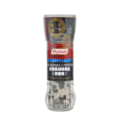 Prymat Black Pepper&Crude Salt Mill 80g