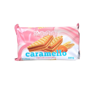 Lolly Polly Caramello Wafers With Caramel Filling 220g