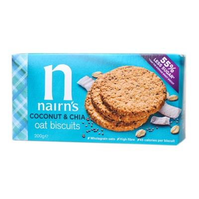 奈尔斯椰子奇亚籽味燕麦饼干 200g
