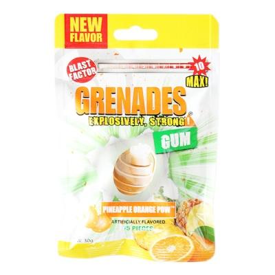 Grenades Pineapple Orange Pow Artificially Flavored Gum 30g
