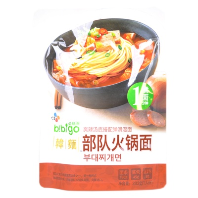 Bibigo Army Hot Pot Noodles 233g
