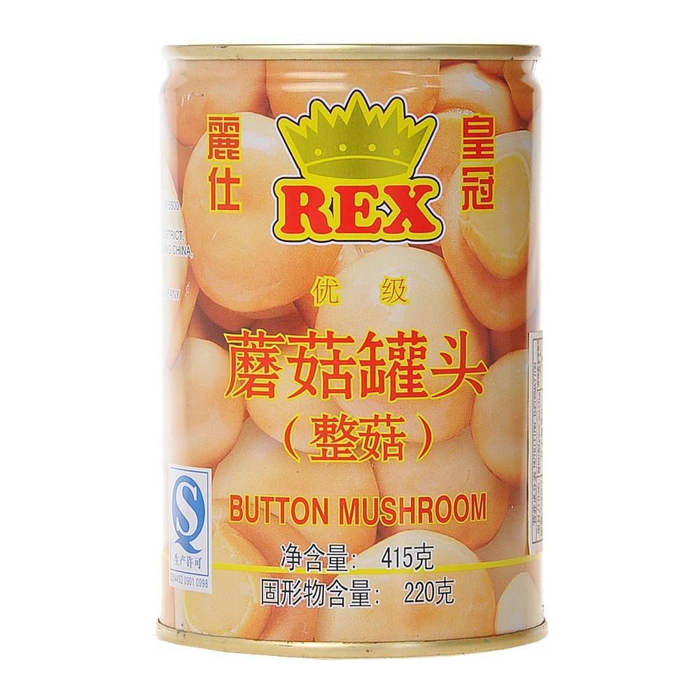 丽仕皇冠蘑菇罐头(整菇) 415g