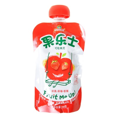 Fruit Me Up Apple & Strawberry & Banana Puree 113g