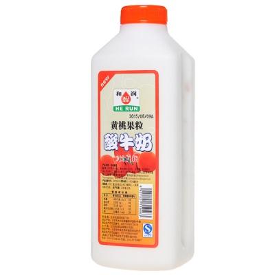和润黄桃大果粒酸牛奶 910g