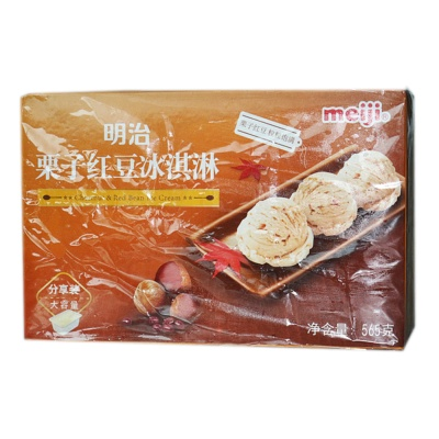 Meiji Chestnut & Red Bean Ice Cream 565g