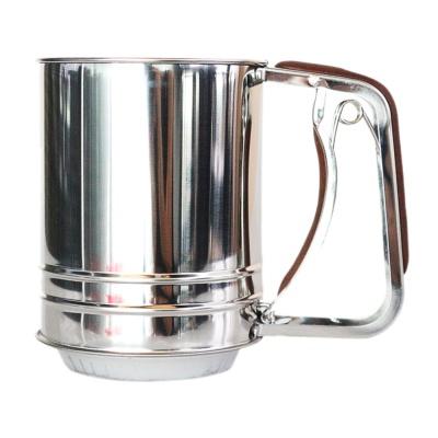 不锈钢杯式半自动面粉筛 1p