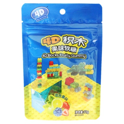 4D Blocks Fruity Gummy 72g