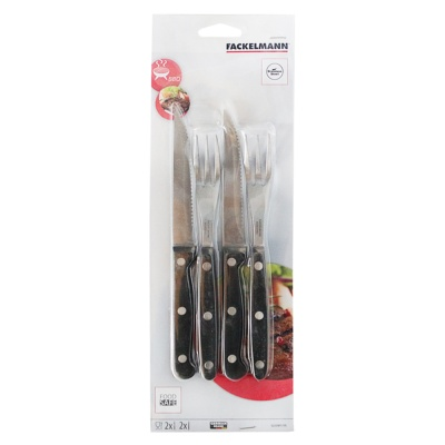 Fackelmann Steak Cutlery Set, 4 pcs S/S