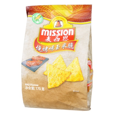 Mission BBQ Corn Chips 170g