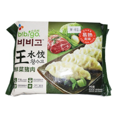 Bibigo Dumplings(Fresh Vegetables Pork) 600g