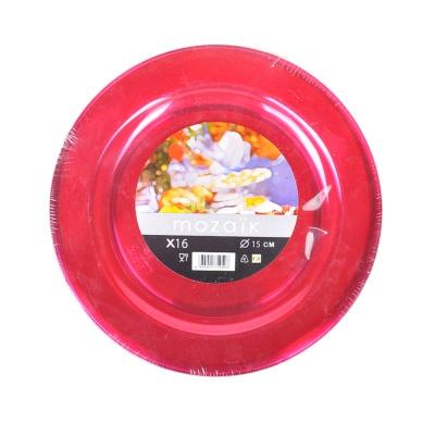 Sabert Mozaik 15cm Round Plates 16pieces