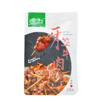 Shun Yi Xin Beef On Toothpicks (Spicy Flavor) 45g