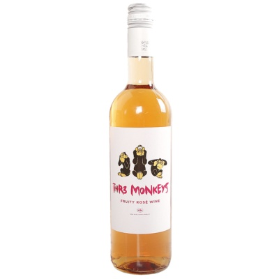 Thr3 Monkeys Fruity Rose Wine 750ml