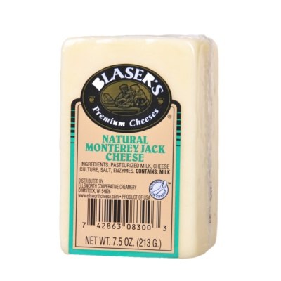 Blaser's Natural Monterey Jack Cheese 213g