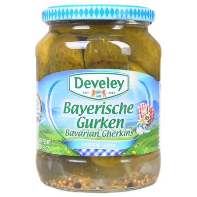 Develey Pickled Gherkins Russian Style 670g