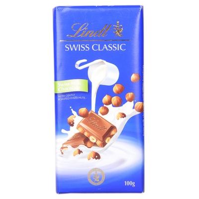 Lindt Hazelnut & Milk Chocolate 100g