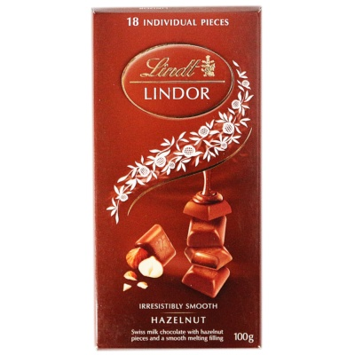 Lindt Lindor Hazelnut Milk Chocolate 100g