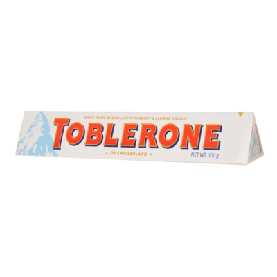 Toblerone Honey & Almond nougat White Chocolate 100g