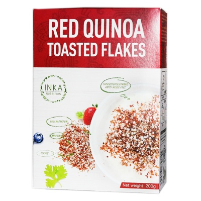 Inka Nutrition Red Quinoa Toasted Flakes 200g