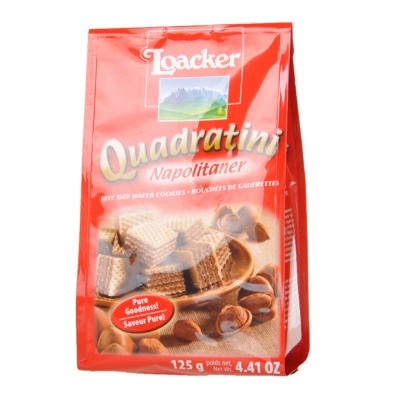 Loacker Quadratini Napolitaner Wafer Cookies 125g
