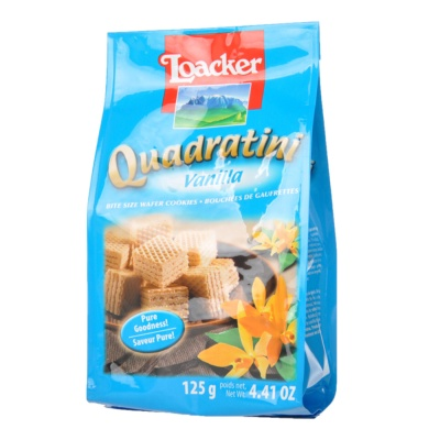 Loacker Quadratini Vanilla Wafer 125g