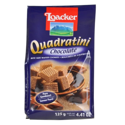 Loacker Quadratini Chocolate Wafer Cookie 125g