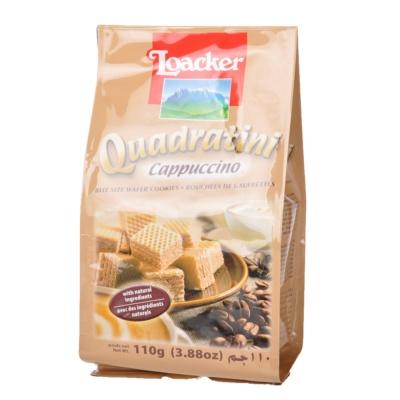 Loacker Quadratini Cappuccino Wafer Cookie 110g