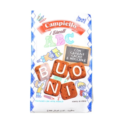 Campiello Letter Shape Cocoa & Hazelnut Biscuits 300g