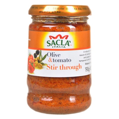 Sacla Olive & Tomato Stir Through Pasta Sauce 190g